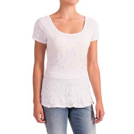 Nomadic Traders Apropos Having a Crush Peplum Shirt - Short Sleeve (For Women) in White - Closeouts
