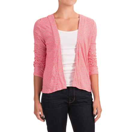 Nomadic Traders Apropos Having A Crush Via Crop Top - Long Sleeve (For Women) in Watermelon Stripe - Closeouts