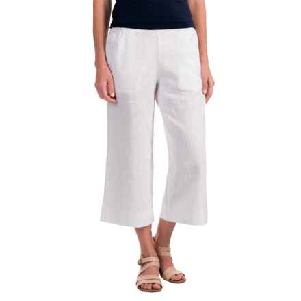 Nomadic Traders Apropos Linen Culotte Pants (For Women) in White - Closeouts
