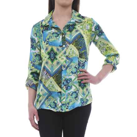 Nomadic Traders Apropos Meridien Tunic Shirt - Long Sleeve (For Women) in Medallion - Closeouts