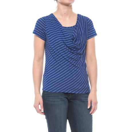 Nomadic Traders Apropos More Than a Crush Riva Shirt - Short Sleeve (For Women) in Lapis Wide