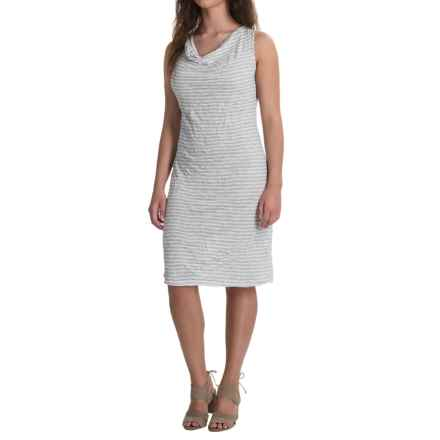 Nomadic Traders Apropos Rita Dress - Sleeveless (For Women) in Grey Stripe - Closeouts