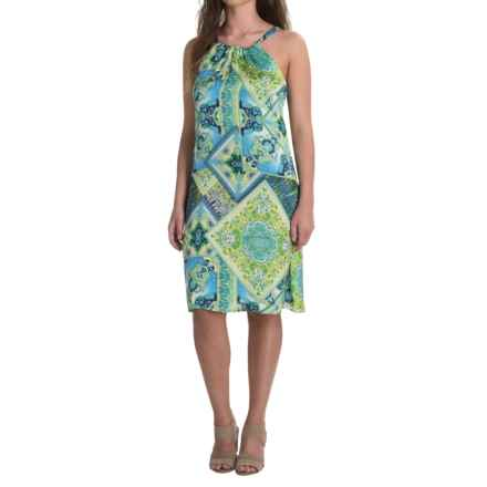 Nomadic Traders Apropos Roxie Halter Dress - Sleeveless (For Women) in Medallion - Closeouts