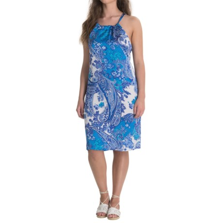 Nomadic Traders Apropos Roxie Halter Dress - Sleeveless (For Women) in Paisley