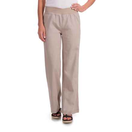 Nomadic Traders Apropos Streets of Tribeca Flare Pants (For Women) in Linen - Closeouts