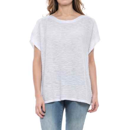 Nomadic Traders Apropos Ventana Poncho - Short-Sleeve (For Women) in White - Closeouts