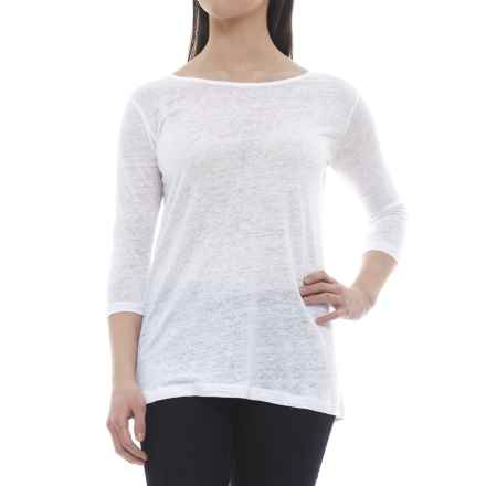 Nomadic Traders Apropos Waterfront Tunic Shirt - 3/4 Sleeve (For Women) in Ivory - Closeouts