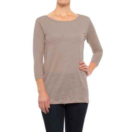 Nomadic Traders Apropos Waterfront Tunic Shirt - 3/4 Sleeve (For Women) in Taupe - Closeouts