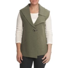 Nomadic Traders Asymmetric Vest - Boiled Wool (For Women) in Loden - Closeouts