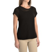 Nomadic Traders Away We Go Balboa Sweater - Short Sleeve (For Women) in Black - Overstock