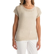Nomadic Traders Away We Go Balboa Sweater - Short Sleeve (For Women) in Flax - Overstock