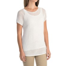 Nomadic Traders Away We Go Balboa Sweater - Short Sleeve (For Women) in White - Overstock