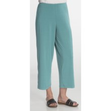 Nomadic Traders Barcelona Cropped Pants - Stretch Jersey (For Women) in Aqua - Closeouts