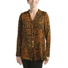 Nomadic Traders Batik Tunic Shirt - Long Sleeve (For Women) in Cheetah - Closeouts