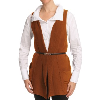 Nomadic Traders Bleecker St. Pocket Vest - Fine-Gauge Cotton (For Women) in Copper