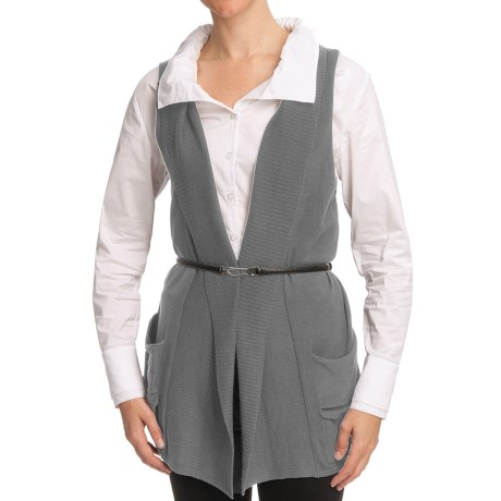 Nomadic Traders Bleecker St. Pocket Vest - Fine-Gauge Cotton (For Women) in Platinum
