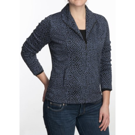 Nomadic Traders City Jacket - Jacquard Knit (For Women) in Midnight Feline