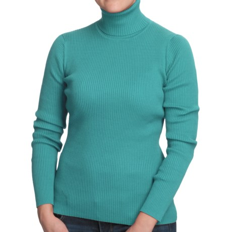 Nomadic Traders Classic Poorboy Turtleneck Sweater (For Women) in Azure