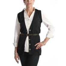 Nomadic Traders Cotton B-Friend Vest - V-Neck (For Women) in Black - Closeouts