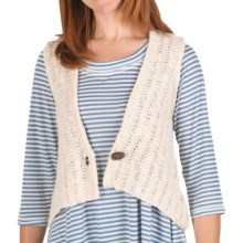 Nomadic Traders Cotton Knit Sweater Vest (For Women) in Natural - Closeouts