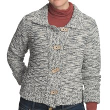 Nomadic Traders Crop Knit Jacket - Button Front (For Women) in Tweed Granite - Closeouts