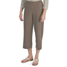 Nomadic Traders Crop Pants - Stretch Jersey Knit (For Women) in Java Heather - Closeouts
