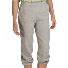 Nomadic Traders Crop Sweatpants - Stretch Cotton Terry (For Women) in Heather Grey - Closeouts