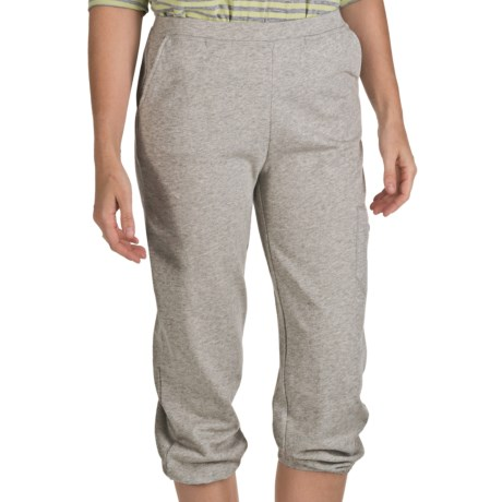 Nomadic Traders Crop Sweatpants - Stretch Cotton Terry (For Women) in Heather Grey