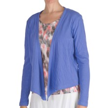 Nomadic Traders Double-Knit Shrug - Long Sleeve (For Women) in French Blue - Closeouts