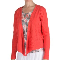 Nomadic Traders Double-Knit Shrug - Long Sleeve (For Women) in Watermelon