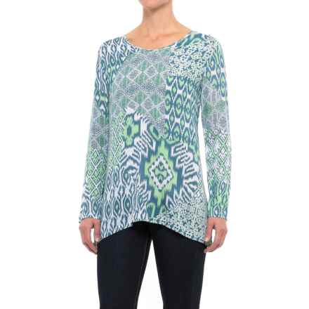 Nomadic Traders Double-V Shirt - Long Sleeve (For Women) in Mint Ikat - Closeouts