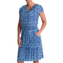 Nomadic Traders Eliana Dress - Cowl Neck, Short Sleeve (For Women) in Lattice - Closeouts