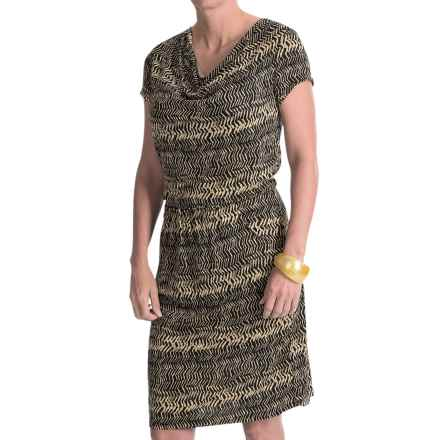 Nomadic Traders Eliana Dress - Cowl Neck, Short Sleeve (For Women) in Nobu Black - Closeouts