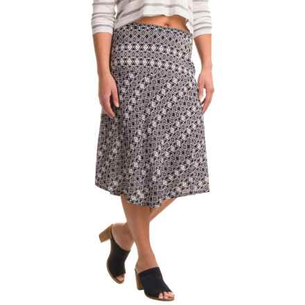 Nomadic Traders Fit-n'-Flare Mykonos Prism Skirt (For Women) in Navy - Closeouts