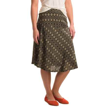 Nomadic Traders Fit-n'-Flare Mykonos Prism Skirt (For Women) in Stone - Closeouts
