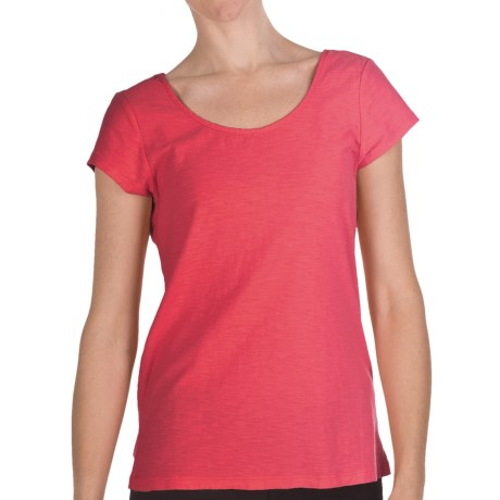 Nomadic Traders Garment-Dyed Lulu Shirt - Slub Cotton, Short Sleeve (For Women) in Guava