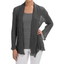 Nomadic Traders Gossamer Long Wrap Cardigan Sweater (For Women) in Black - Closeouts