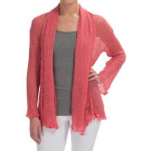 Nomadic Traders Gossamer Long Wrap Cardigan Sweater (For Women) in Coral - Closeouts