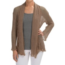 Nomadic Traders Gossamer Long Wrap Cardigan Sweater (For Women) in Latte - Closeouts