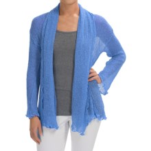 Nomadic Traders Gossamer Long Wrap Cardigan Sweater (For Women) in Mystic Blue - Closeouts