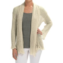 Nomadic Traders Gossamer Long Wrap Cardigan Sweater (For Women) in Pearl - Closeouts
