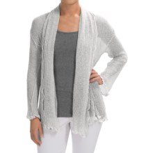 Nomadic Traders Gossamer Long Wrap Cardigan Sweater (For Women) in White - Closeouts