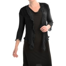 Nomadic Traders Gossamer Wrap Cardigan Sweater (For Women) in Black - Closeouts