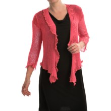 Nomadic Traders Gossamer Wrap Cardigan Sweater (For Women) in Coral - Closeouts