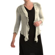 Nomadic Traders Gossamer Wrap Cardigan Sweater (For Women) in Pearl - Closeouts
