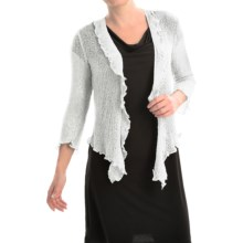 Nomadic Traders Gossamer Wrap Cardigan Sweater (For Women) in White - Closeouts