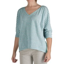 Nomadic Traders Heather Stripe Shirt - 3/4 Sleeve  (For Women) in Seamist - Closeouts