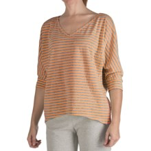 Nomadic Traders Heather Stripe Shirt - 3/4 Sleeve  (For Women) in Sorbet - Closeouts