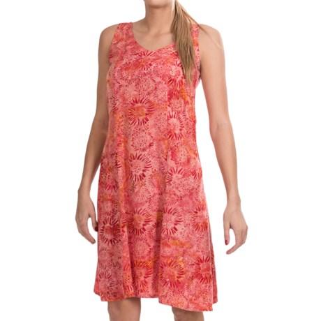 Nomadic Traders Helena Dress - Rayon Batik, Sleeveless (For Women) in Sunflower