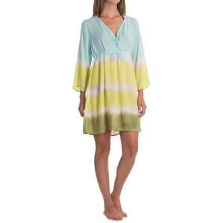 Nomadic Traders Here Comes the Sun Cover-Up Dress - 3/4 Sleeve (For Women) in Midori - Closeouts